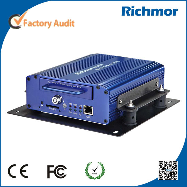 4Channel Vehicle Mobile Digital Video Recorder 4G With GPS Tracking For Bus Use