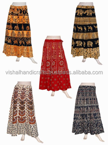 Exclusive Rajasthani Culture Sanganeri Printed Long Skirts,Sari ...