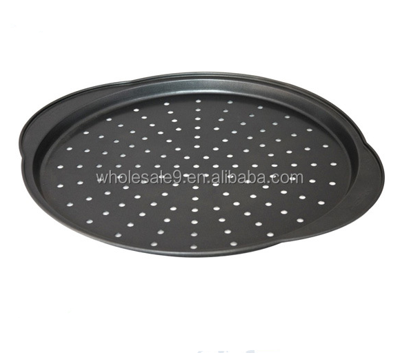 Carbon steel perforated pizza pan & Non-toxic pan