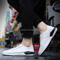 2017Chinese factories wholesale sale men casual shoes with the colors of white and black