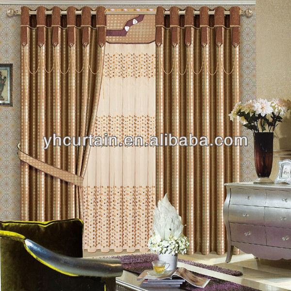 Indian Style Master Bedroom Curtain With Valance - Buy ...
