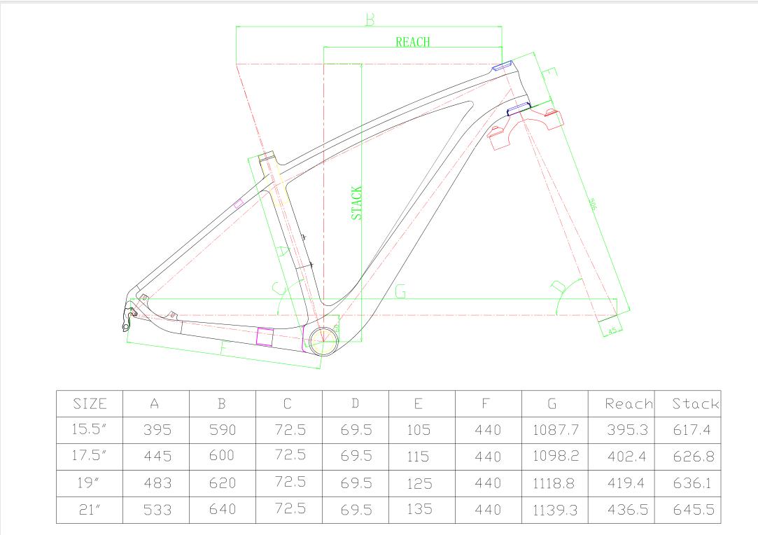 """HONGFU 29er carbon frame/29 inch mtb carbon fiber frame/29"""" carbon mountain bike frame"""