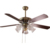 Decorative copper motor ceiling fan with light