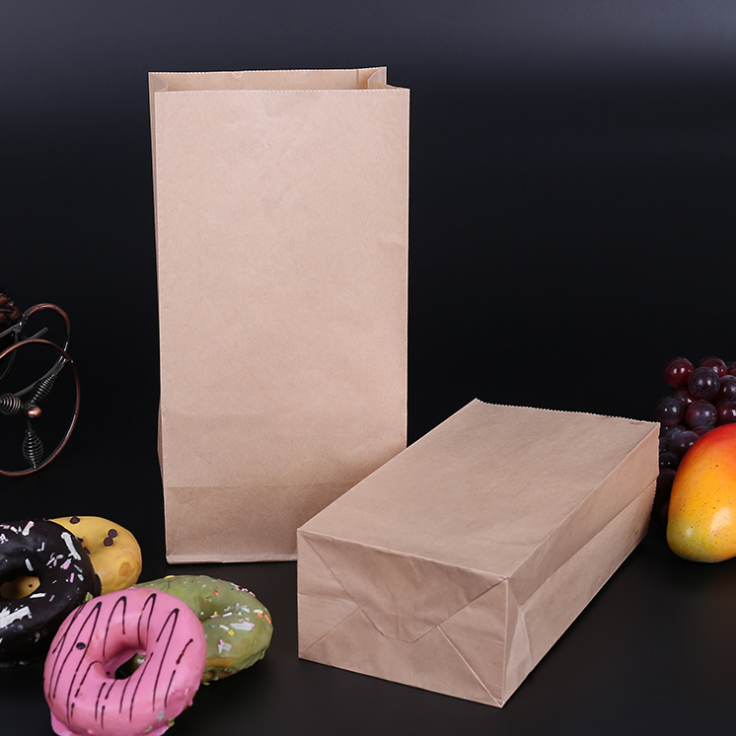 Eco Cheap Wholesale Eco-Friendly Kraft Snack Bread Paper Bag