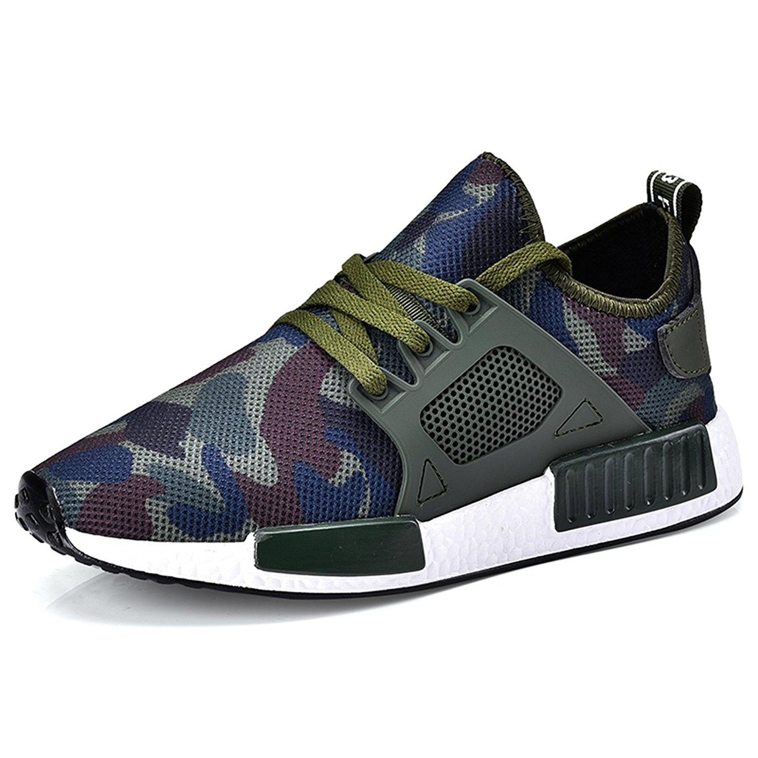 ef112ed48f64 Get Quotations · BADIER Mens Socks Shoes Running Shoes Fashion Mesh Shoes  Casual Fly Weave Sneakers Lightweight Breathable Quick