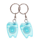 One-Stop Service [ Dental Keychain ] Promotional Tooth Shaped Dental Floss Tooth Keychain