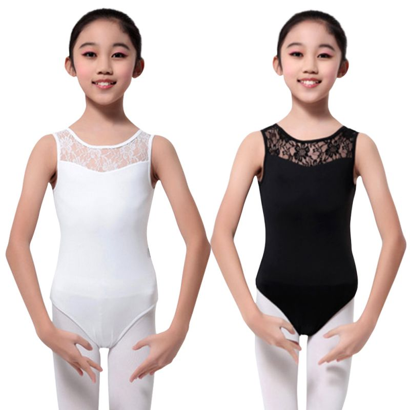 Kids Girl Gymnastics Leotard Lace Ballet Dance Dress Bodysuit Dancewear Costume