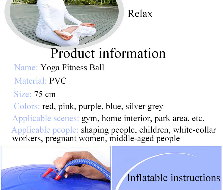 Best Selling Gym Equipment Anti-burst Fitness Exercise Stability Yoga Ball