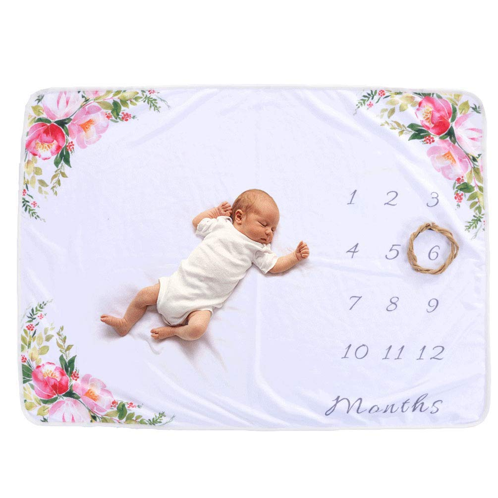 "Meslio Newborn Photo Blanket, Baby Monthly Milestone Blanket,Photography Props Shoots Backdrop for Boys Girls,, 30""x 40"""