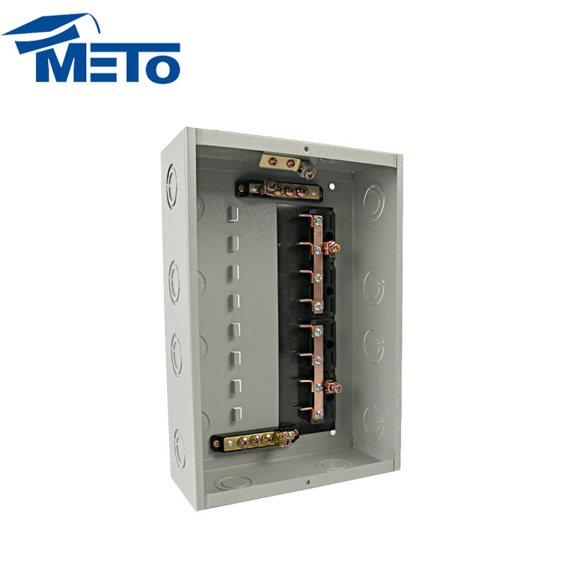 METO 8 way moulded case single phase outdoor distribution board types of electric panel box