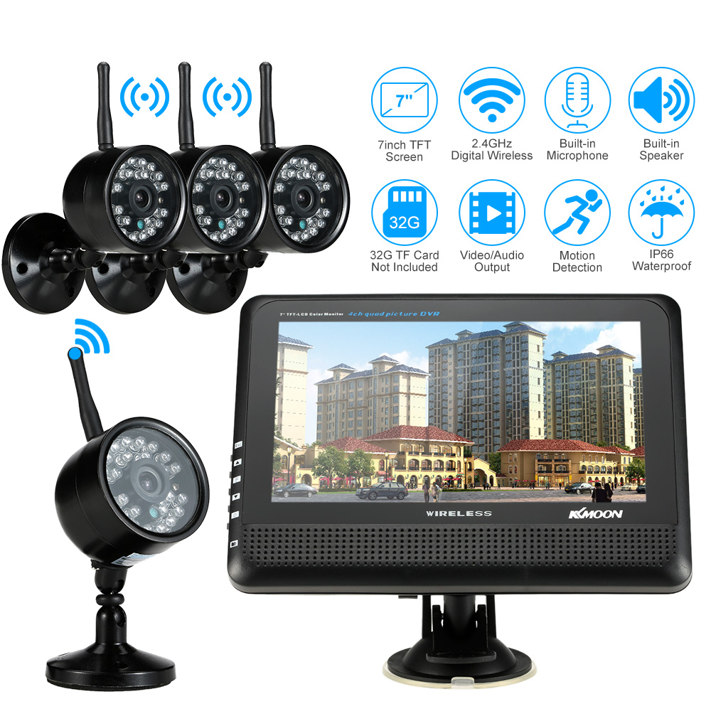 Online Get Cheap Wireless 4 Camera Dvr Security System