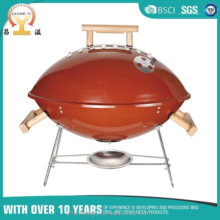 Verchroomd bbq grill ontwerp houten handvat rotisserie voetbal houtskool grill bbq grills - Barbecue ontwerp ...
