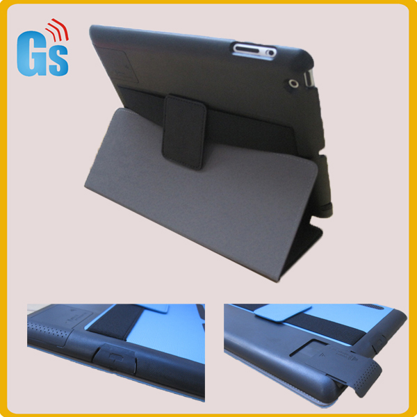 Unquie sound boost pu leather case with stand for Ipad 2/3/4