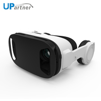 UPartner manufacture hot selling ps4 virtual reality 3d glasses Box dropshipping VR Headset with HIFI earphone