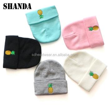 Cheap Wholesale Beanie Knit Winter Hat Pattern Custom Blank Beanie