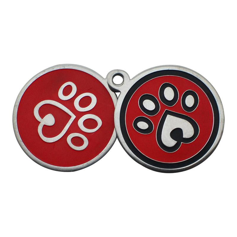 Wholesale Bulk Cheap Personalized Engraver Pet Id Tags Custom Sublimation Military Anodized Aluminum Pet Dog Tag