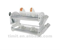 Simple Design Practical High Quality Chrome Plated cabinet Dish Rack