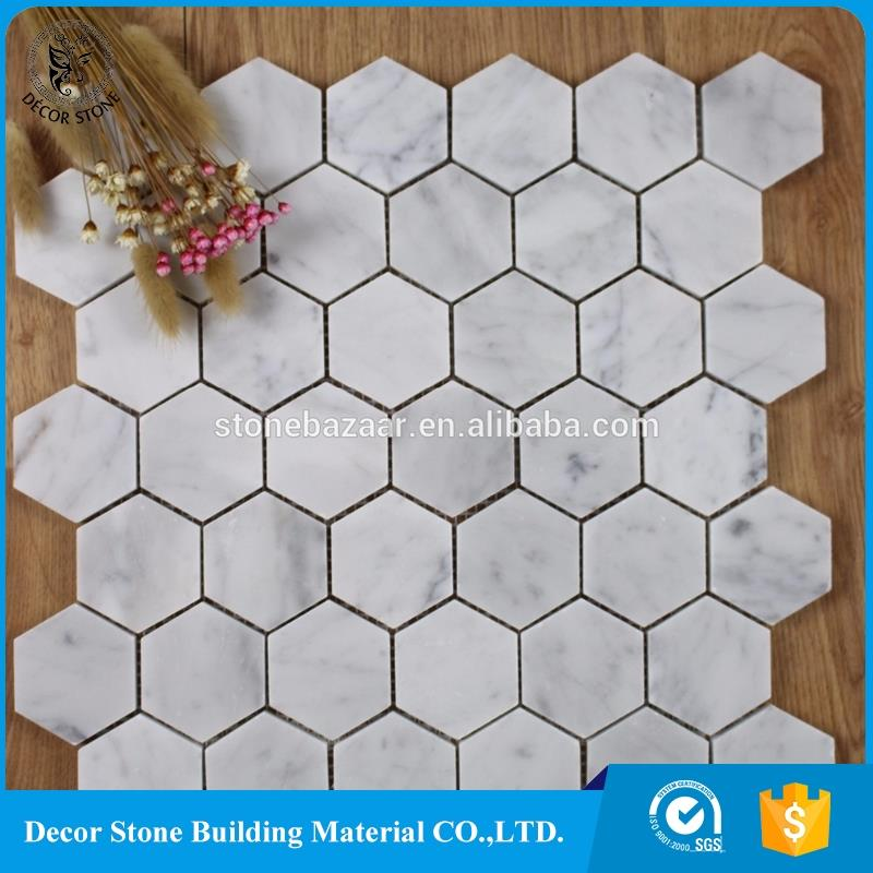 Factory direct supply hexagon marble mosaics and tiles manufacturer
