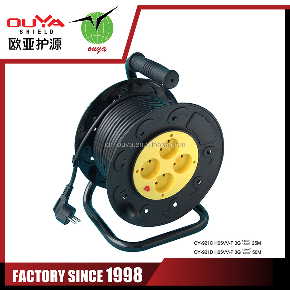 100m cable reel ac adapter retractable cable reel