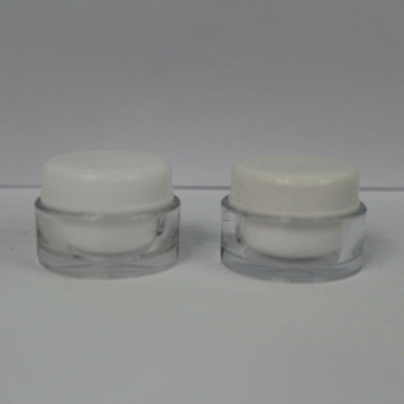 Round acrylic cosmetic Mini jar / small capacity packing bottle