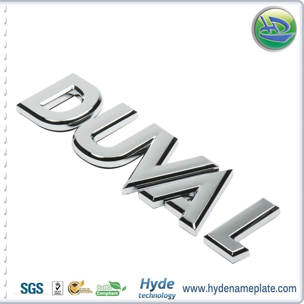 Promotional Number Design Chrome Plastic Emblem Custom Abs Car - Car sign with namescustom car logodie casting abs car logos with names brand emblem