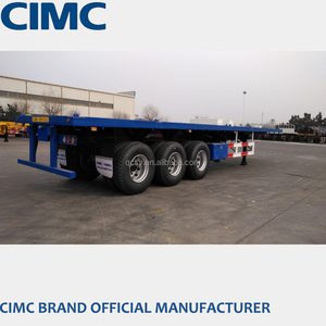 CIMC 40ft Flatbed Trailer/Flatbed Trailer with Three Axles/Flatbed with Wood Floor