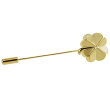 Latest new designer flower gold fancy brooch pin