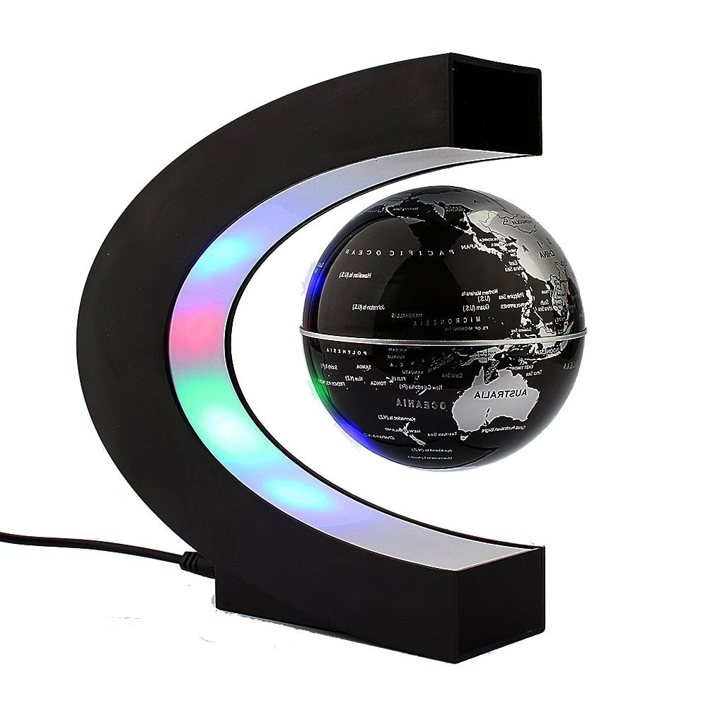 Buy chicago snow globe silver base and color inside glass globe toponechoice maglev floating rotating globe color led lights built in the c shaped base magnetic suspension globe world map for decorating your house or gumiabroncs Choice Image