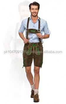 6a2cd27739d00 Alemán bávaro de Oktoberfest de trachten-corto-longitud-Lederhosen-hombres  cortos de