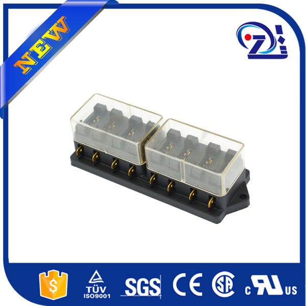 12V/24V 10 WAY BLADE FUSE BOX HOLDER LED WARNING LIGHTS KIT CAR MARINE LANDROVER