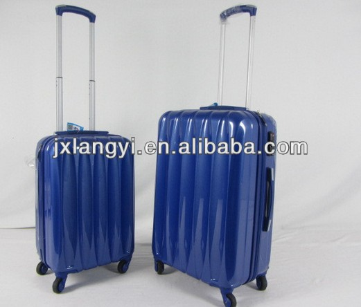 Blue color 20'' ABS+PC film Hardcase Lightweight Spinner/Rolling case w/TSA