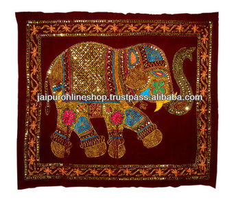 Elephant Wall Hanging ultimate indian elephant wall hanging tapestry with beautiful zari