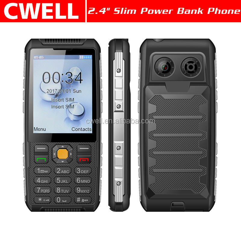 Wholesale 2.4 Inch Dual SIM Card 2500mAh Big Battery 0.08MP camera Power Bank Low Price Chian Mobile Phone with whatsapp Z24
