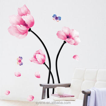 Incredible High Quality Flower Wall Decal Pvc 3D Wall Sticker For Bedroom Living Room Wall Art Mural Home Decor Buy Flower Stickers Flower Decal Flower Wall Home Interior And Landscaping Ologienasavecom