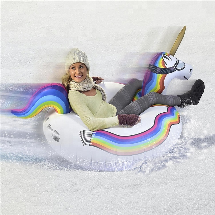 CE Standard Phthalate Free PVC Slip n Slide Unicorn Snow Pool Float for Adults