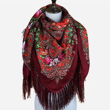 En gros Mode Russie Châles <span class=keywords><strong>Usine</strong></span> Traditionnelle Fleur <span class=keywords><strong>Pashmina</strong></span> Imprimé Carré Foulard <span class=keywords><strong>Pashmina</strong></span> En Gland