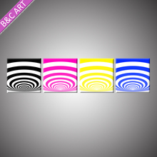 Acrylic Painting Abstract Decorative 3D Wall Panel Mold Multi-color Painting Line