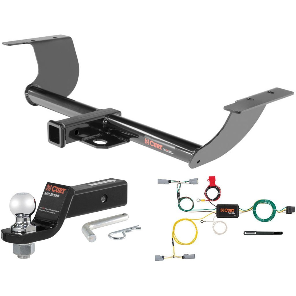 "CURT Class 3 Hitch Tow Package with 2"" Ball for 2015-2016 Dodge Challenger"