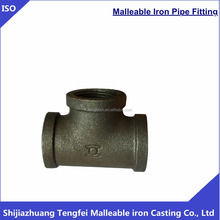 Black banded Tee Equal 130,Malleable iron pipe fittings