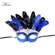 Beauty blue masquerade mask sequins decoration cock feather mask