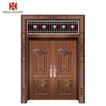 Model Hl 101 Front Iron Double Door Leaf Design By Customized Bifold Doors