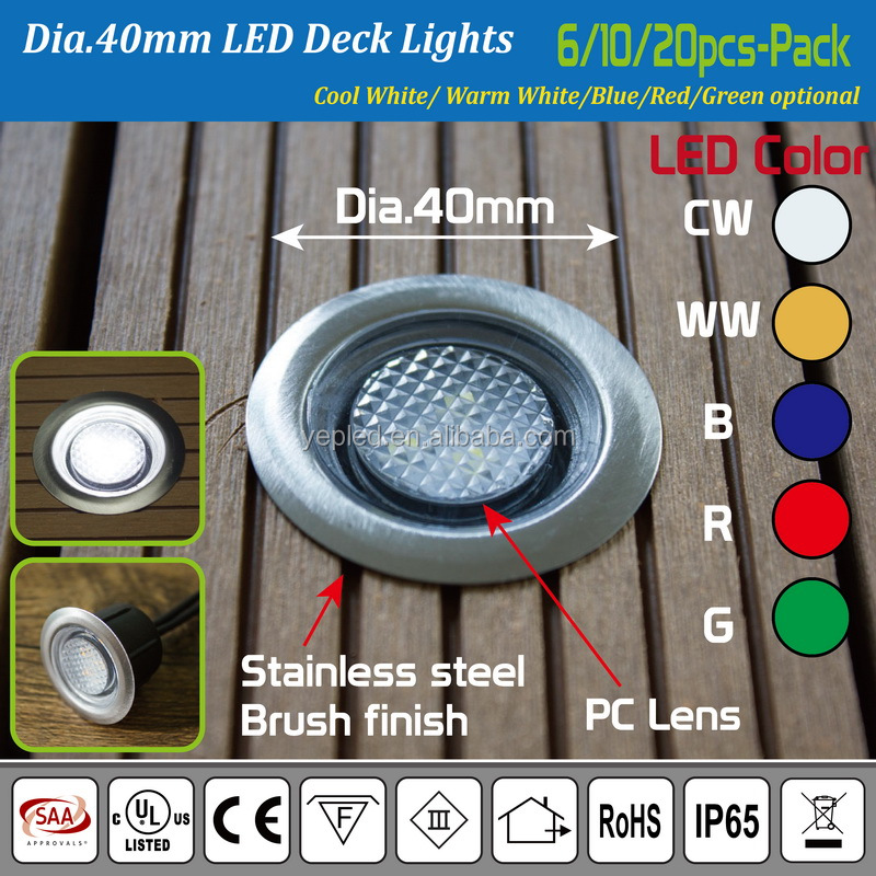 Walk Over LED Recessed Lighting 12V Low Voltage/ Floor Light/ Deck Lighting