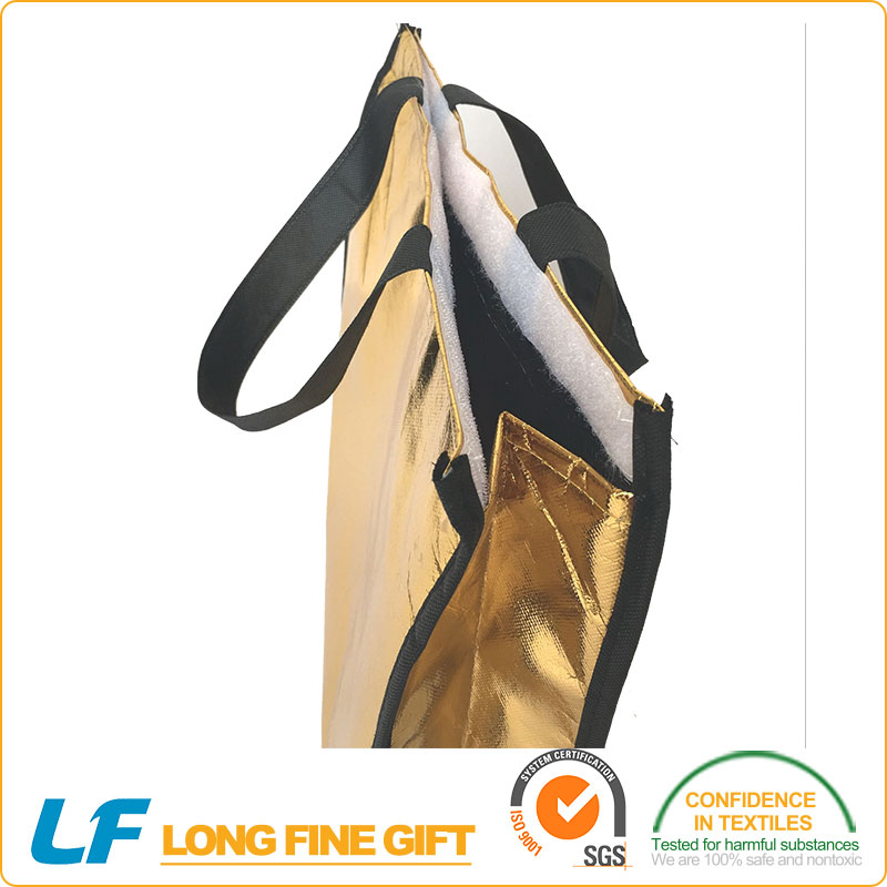 Highly popular eco-friendly silk-screened foldable shopping bag market trolley