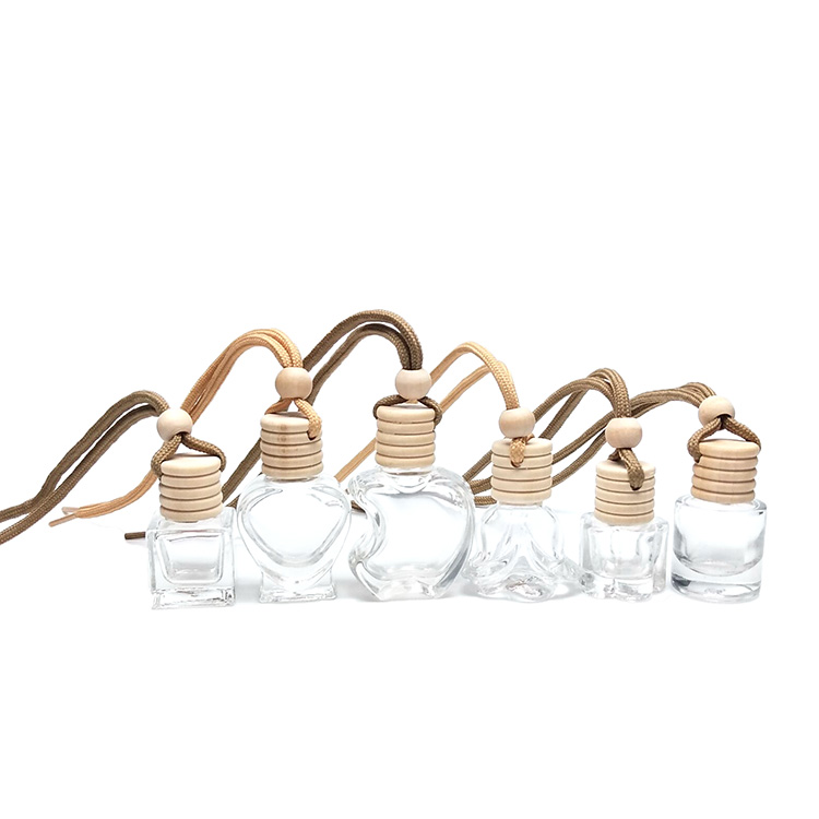 5ml 8ml 10ml Wholesale wooden cap diffuser <strong>empty</strong> hanging car <strong>perfume</strong> <strong>bottle</strong>
