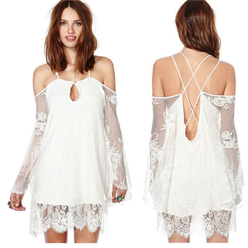 bf8595c6b1a Get Quotations · Lace Bikini Beach Cover Up Dress White Beach Wear Cangas  De Praia Crochet Dress Sexy Bathing