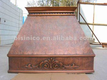 Copper Range Hoods Wall Mounted Hand Hammered Clical European Style Kitchen Hood
