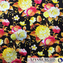 100% polyester wholesale high quality colorful stamping air layer frabic/Scuba for women's cloth