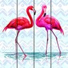 Factory wholesale art minds wood art plaques crafts, Flamingo wooden art decor