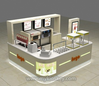 Eco Friendly Mobile Juice Bar Counter Design For Mall Food Kiosk