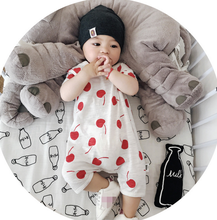 YF71220 summer new style baby clothes korean cherry printing newborn climbing clothes
